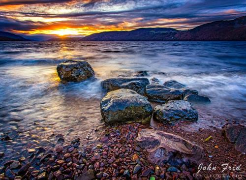 November Sunset over Loch Ness