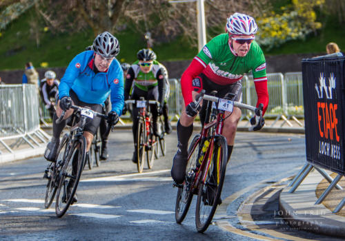 A race to the finish in Inverness at the Etape Loch Ness