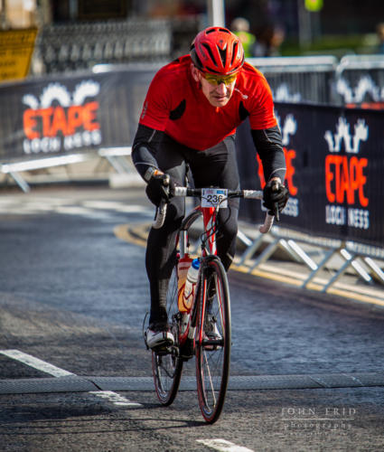 the last push to finish the Etape Loch Ness