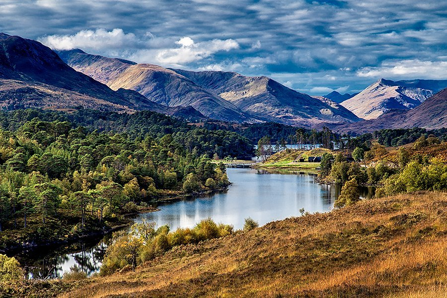 Loch Affric in early autumn colours