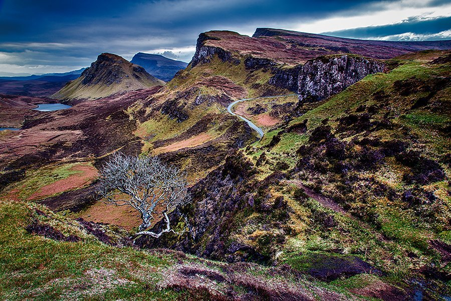 View of The Quiraing on Isle of Skye