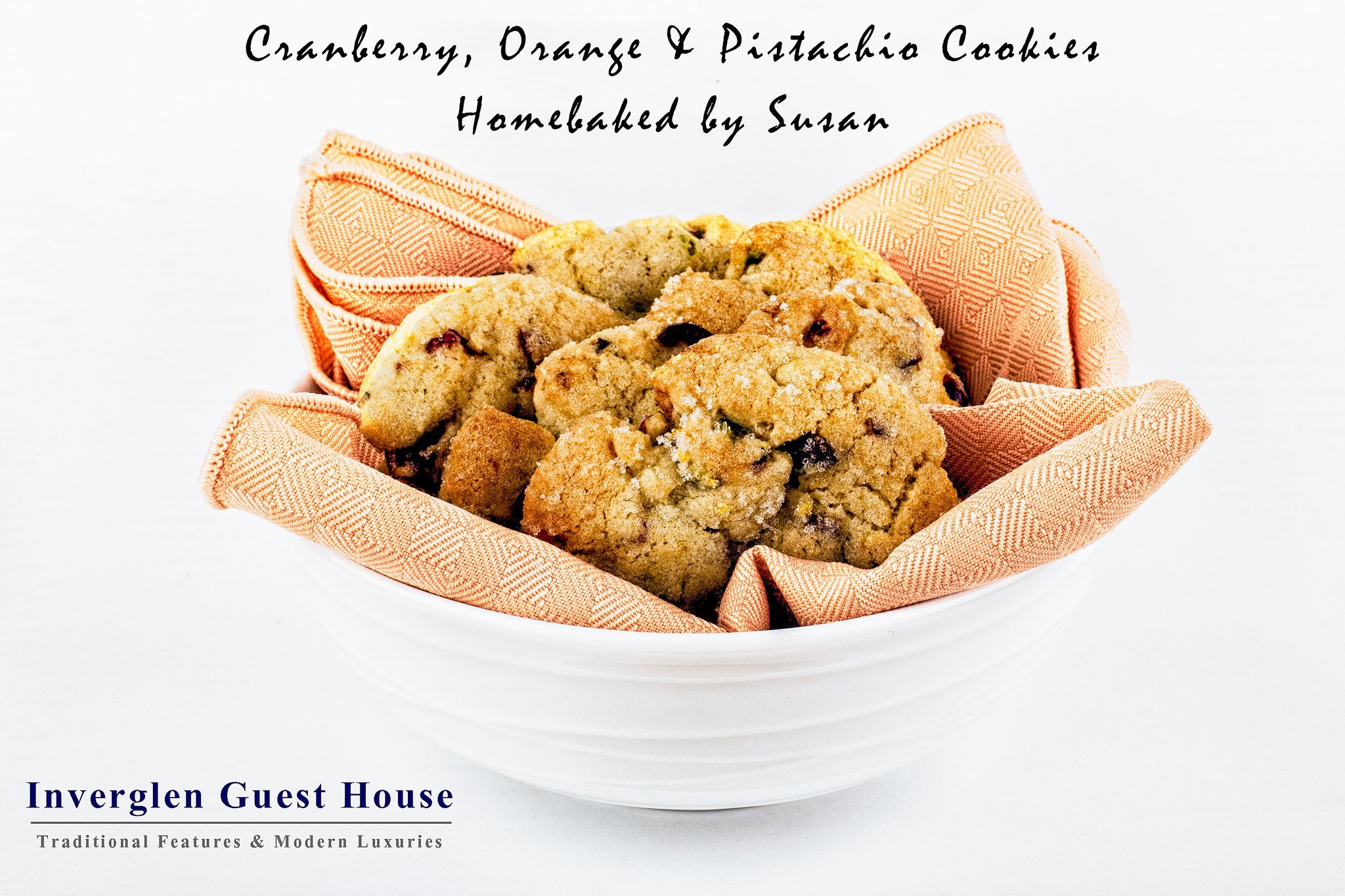 Cranberry Orange and Pistachio Cookies