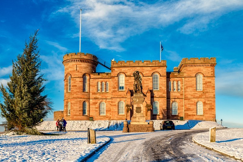 Inverness Castle in the Snow