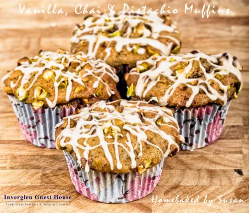 Vanilla Chai and Pistachio Muffins
