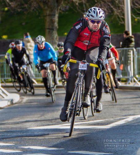 The closing stages of the Etape Loch Ness