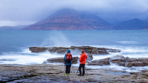 Enjoying the view from Elgol on Isle of Skye