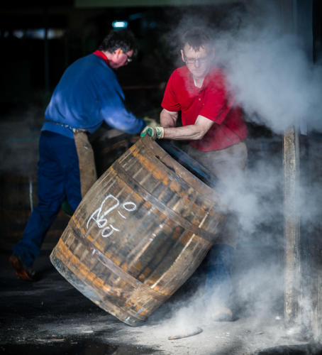 Steaming the cask